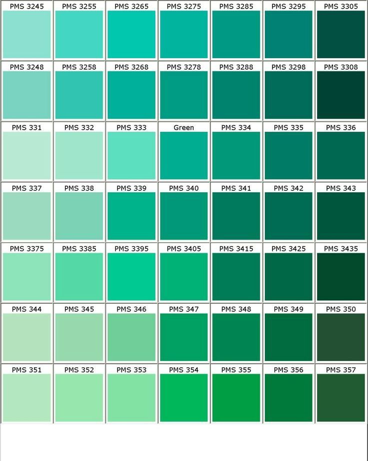 Color And Seafoam Moss Chart
