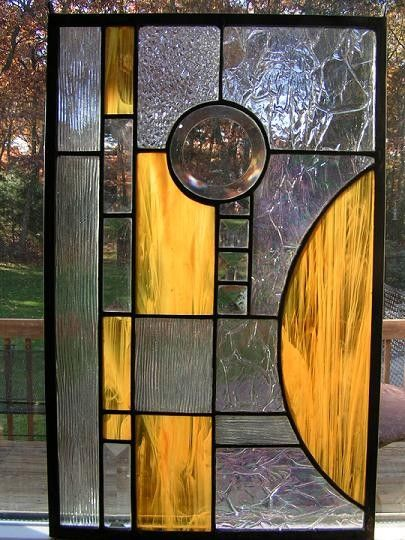 ABSTRACT STAINED GLASS WINDOW PANEL by colorshoppestudio on Etsy