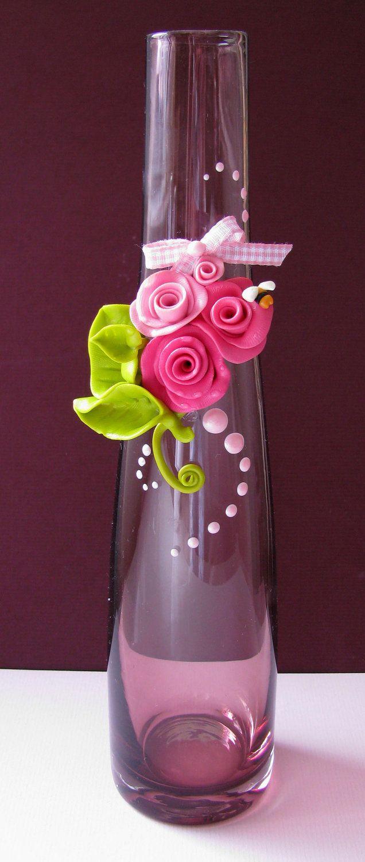 Flowers and leaves | Pots décorées, Idee fimo, Bricolage et loisirs créatifs