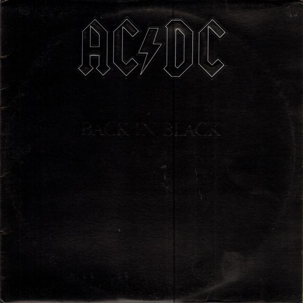 Ac Dc Back In Black 1980 Rock Album Covers Back To Black Acdc