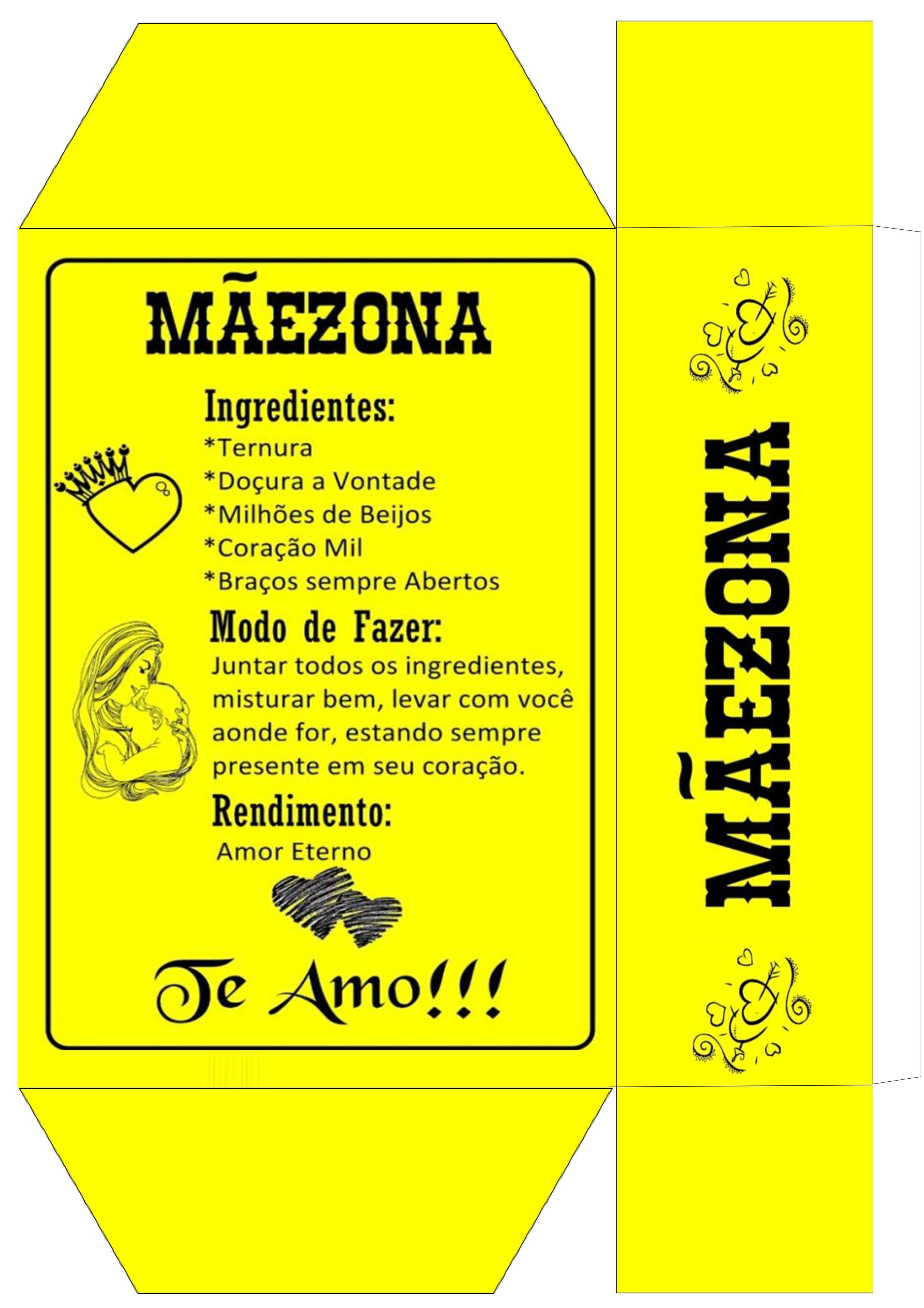 319e7d375a4dc8 Caixa Maezona Presente Dia das Maes Personalizado - Parte 2 | mãe ...
