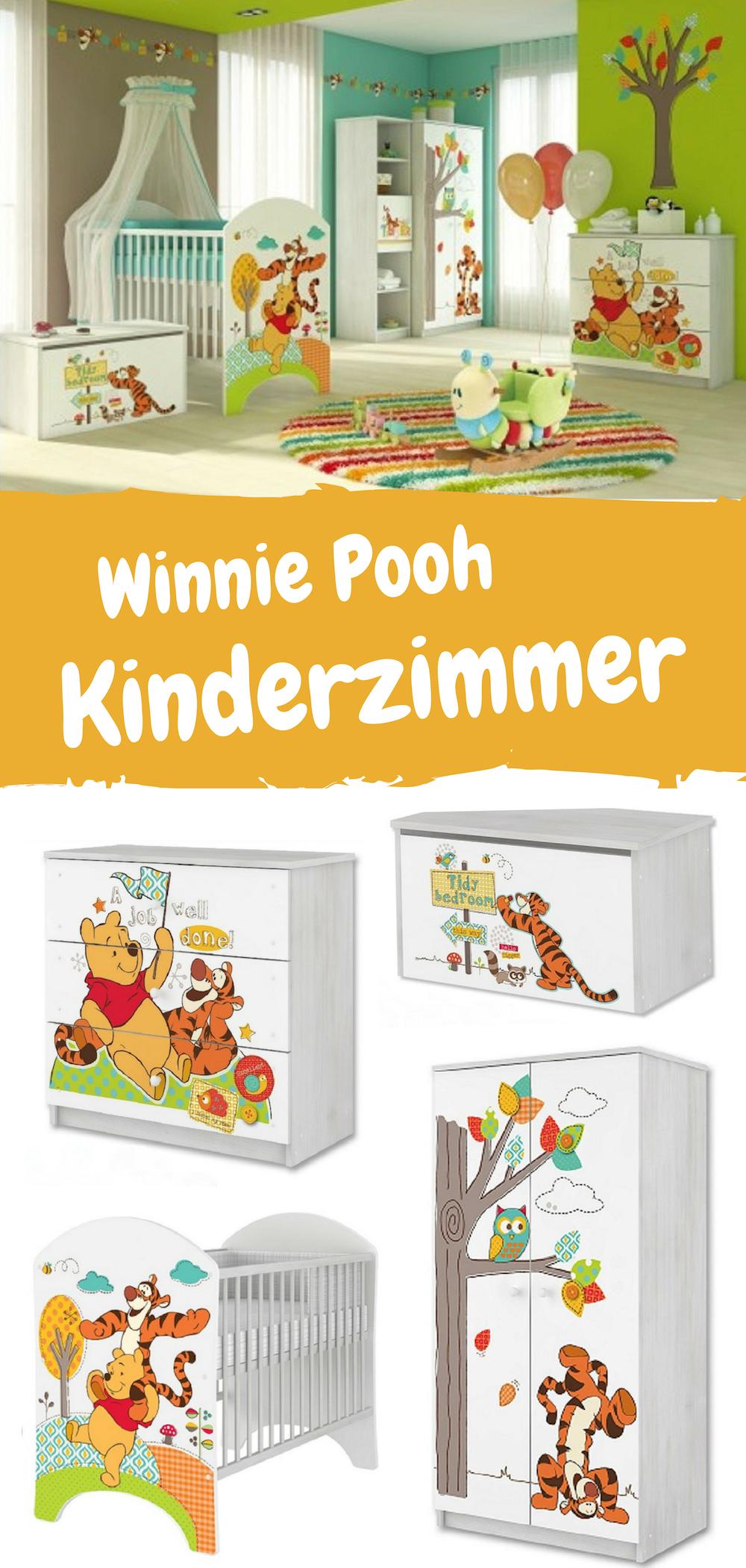 Schönes Kinderzimmer Set mit Winnie Pooh Motiv. Möbel für ...