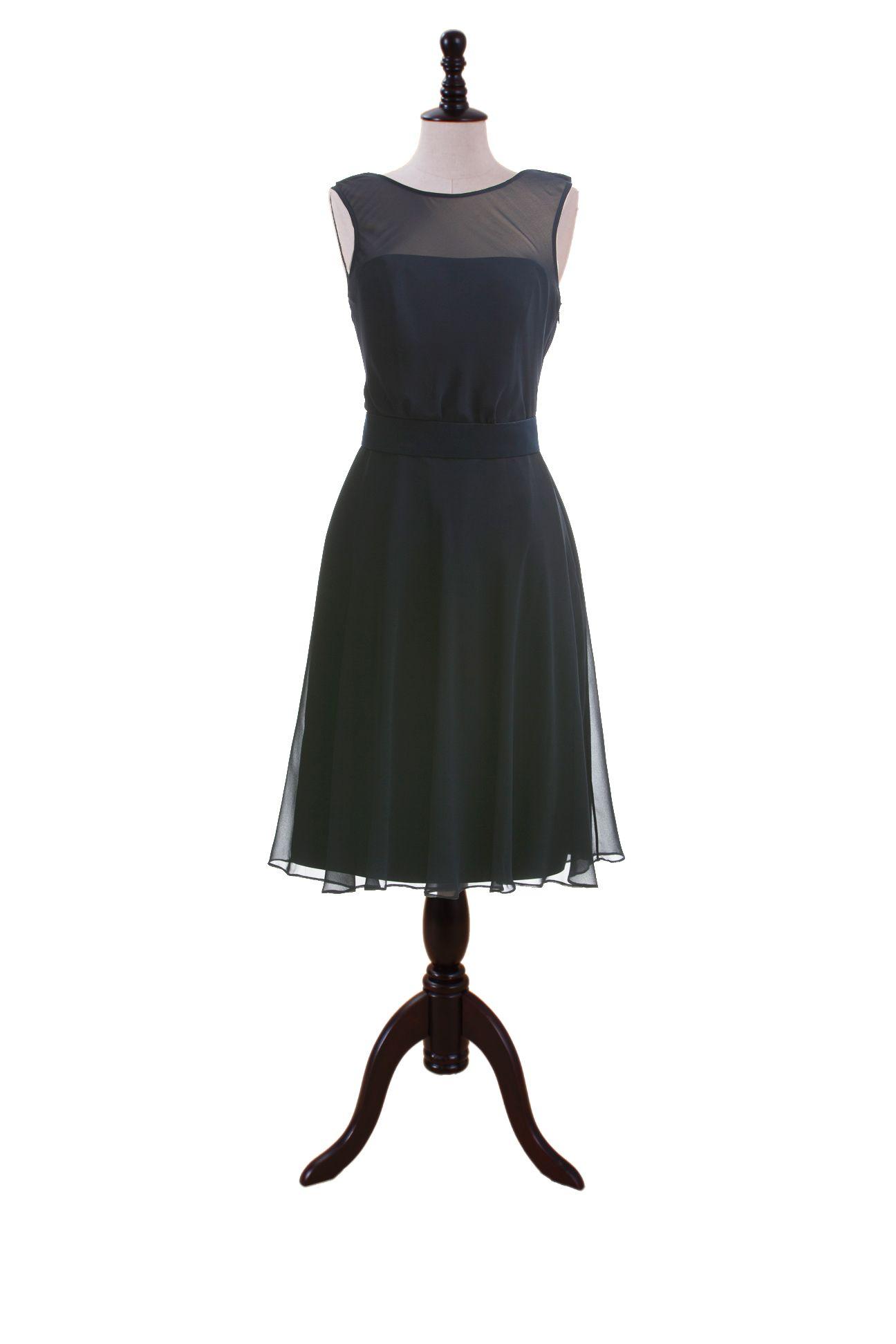 What to wear over a sleeveless dress to a wedding  Sleeveless Chiffon Dress with Bateau Neckline  wedding jewelry