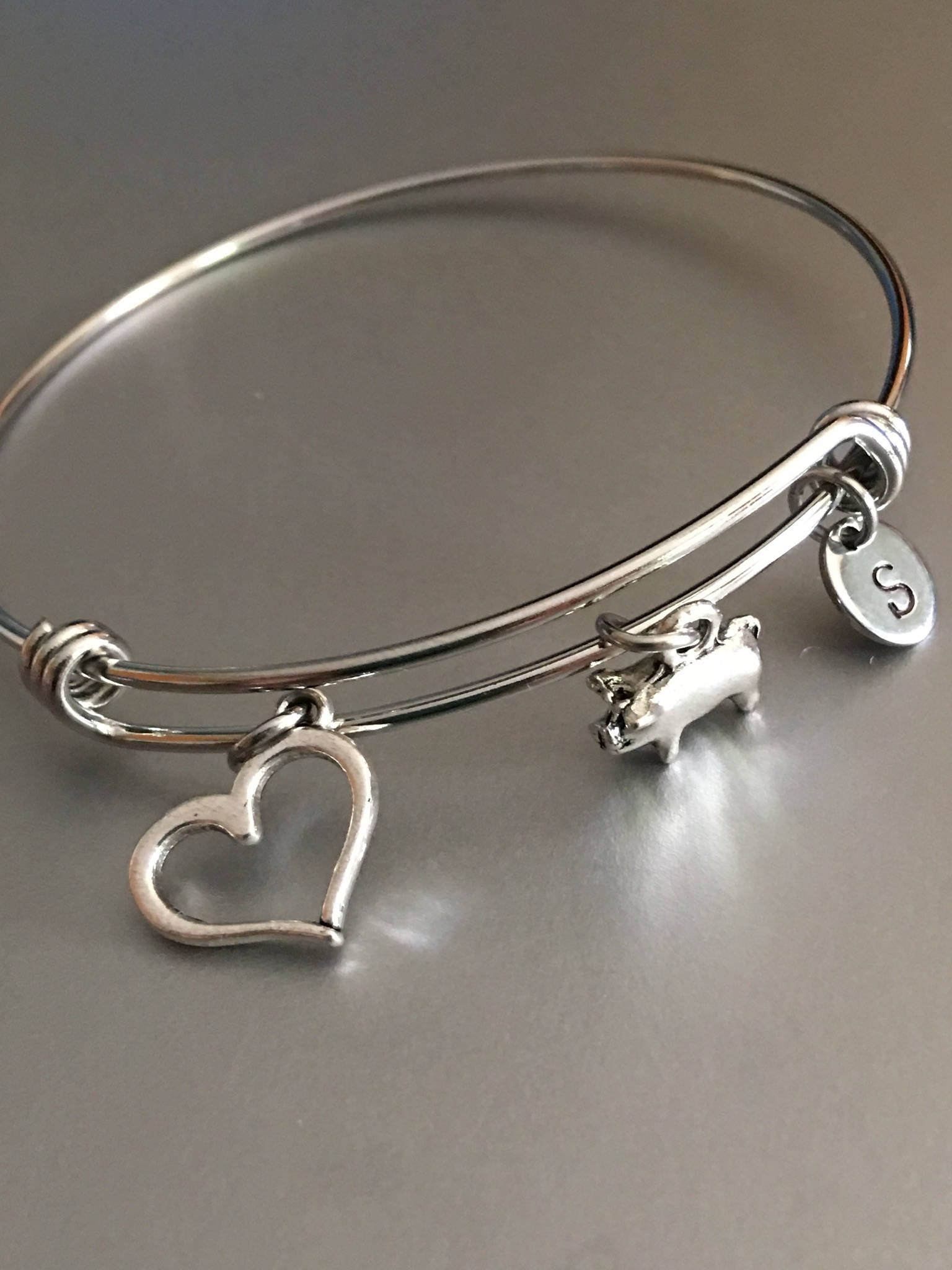 original metal brass sterling bracelet hand hammered product or personalized stamped washer silver