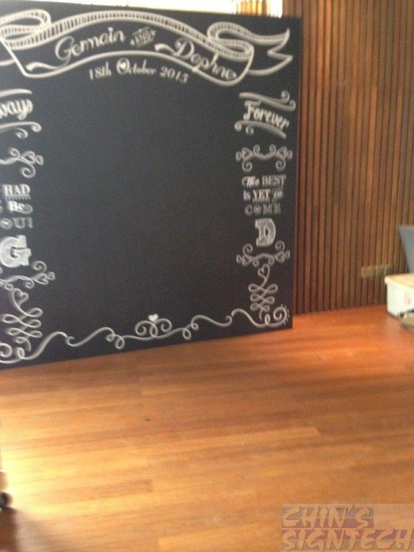 Wedding Chalk Board Photo Booth 8 X 8ft Design Print Setup This Feet By Us At Shangri La Rasa Sentosa