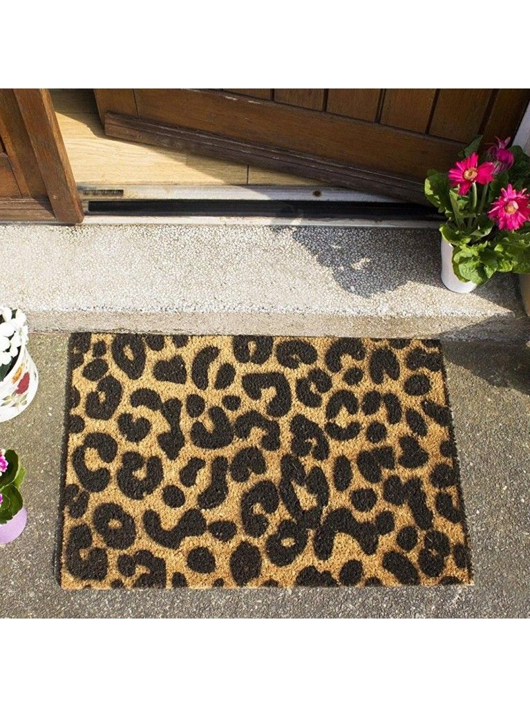 Funky Wild Front Door Leopard Print Mat Made From A