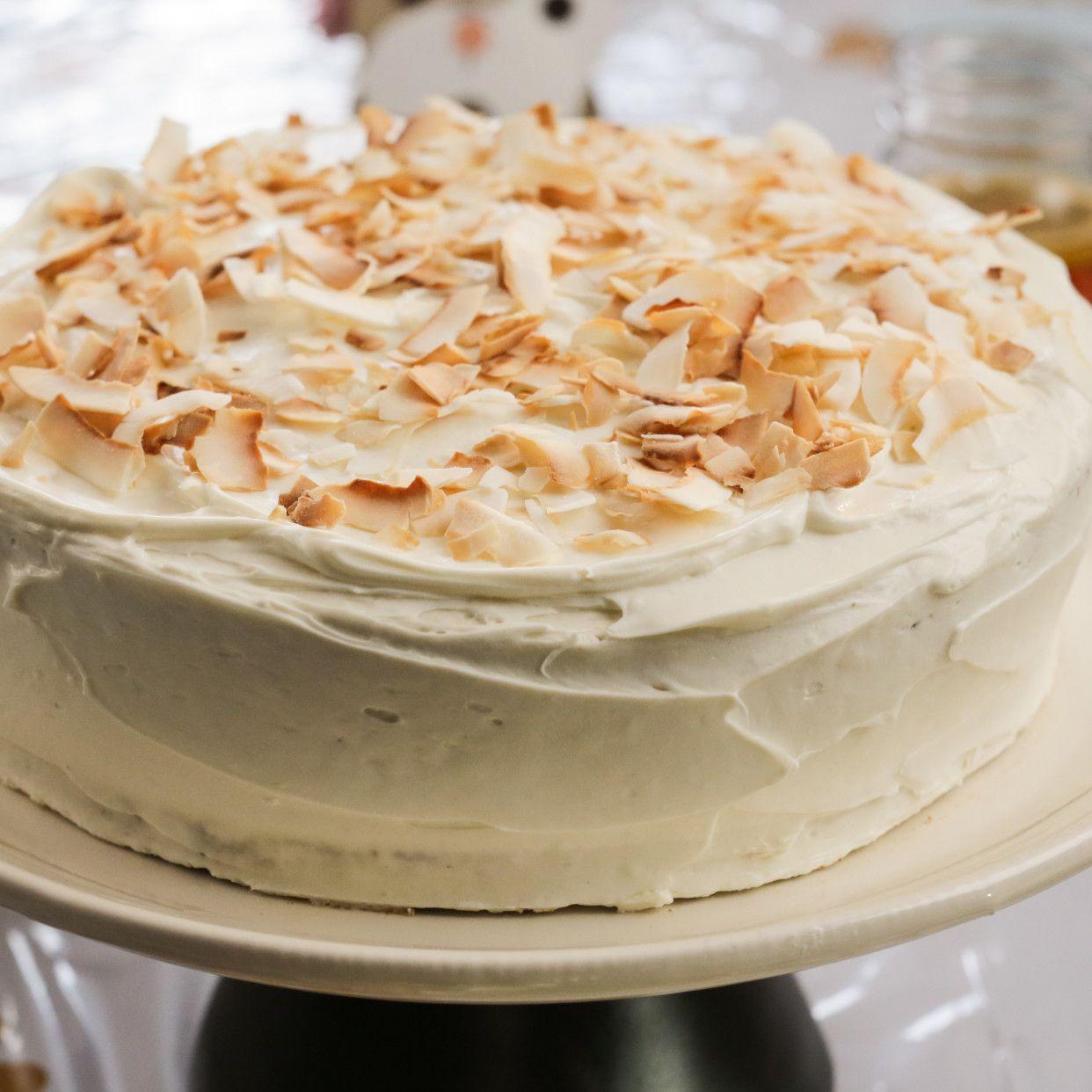 Carrot Coconut Birthday Cake Recipe Food Cake Recipes Cake