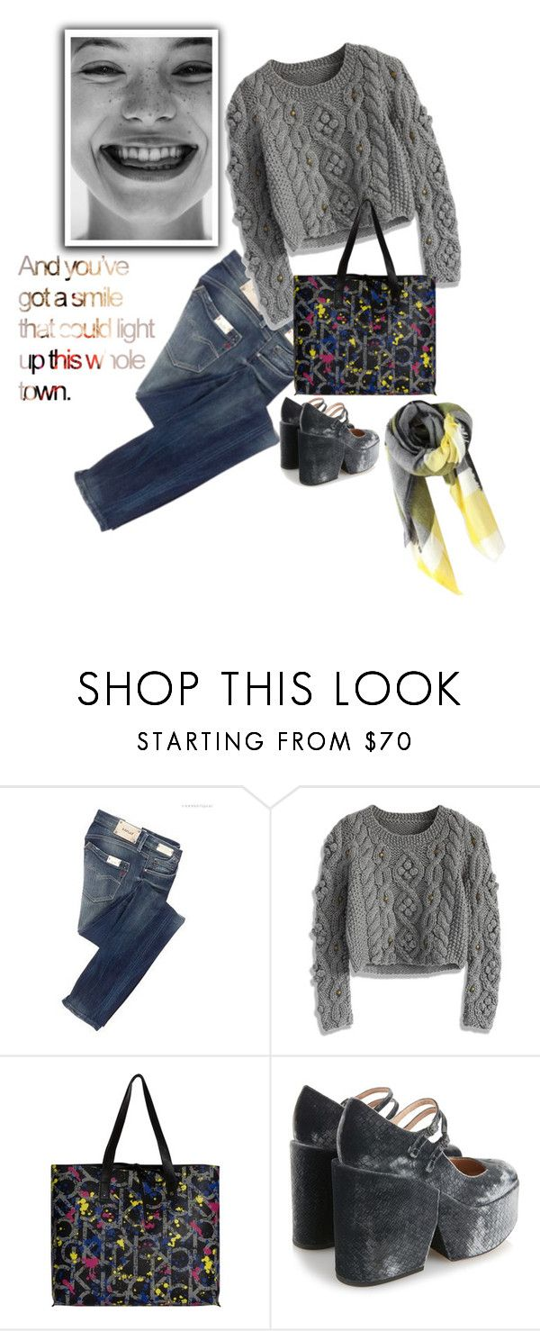 """""""It's amazing what a smile can do!"""" by juliehooper ❤ liked on Polyvore featuring Replay, Chicwish, Calvin Klein and Mary Katrantzou"""