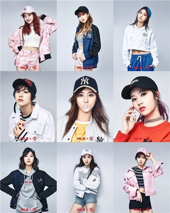 TWICE Collabs with MLB for Hat Photoshoot  5e6b21fd697