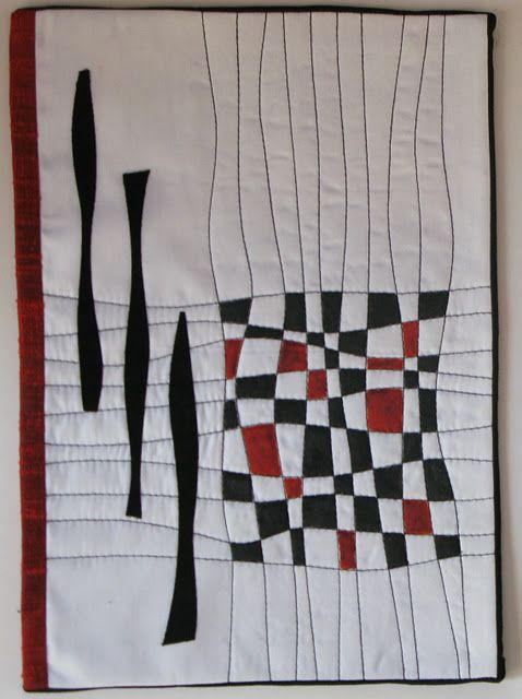 Black white red quilt idea