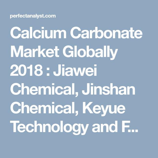 Calcium Carbonate Market Globally 2018 : Jiawei Chemical, Jinshan ...