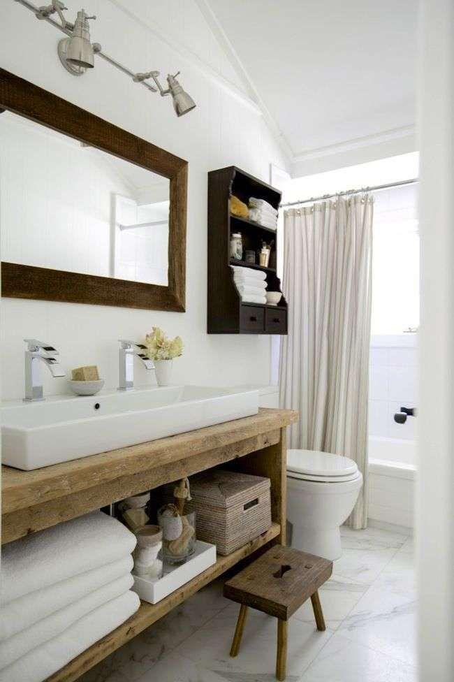 Idee per arredare il bagno in stile country - Mobili bagno country ...