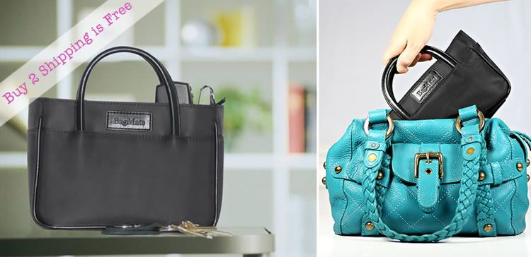 A handbag organizer will keep your purse organized and makes it easy for you to change purses without forgetting anything! much lovelier than a plastic bag