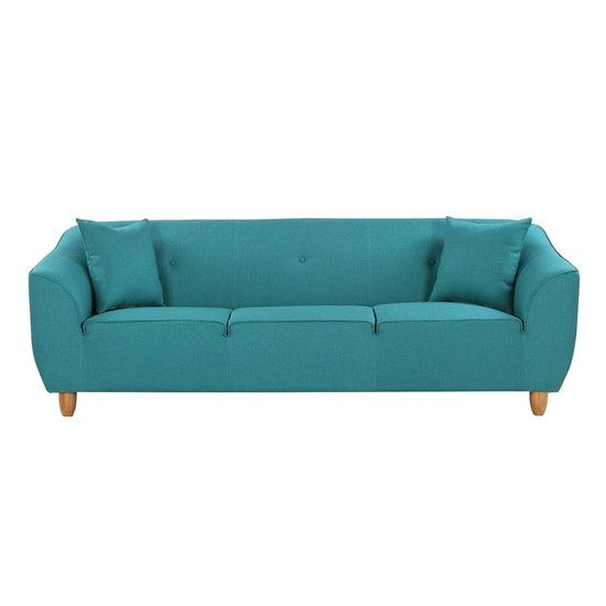 Best Cozy 3 Seater Sofa Bright Light Blue Cozy Furniture 3 400 x 300