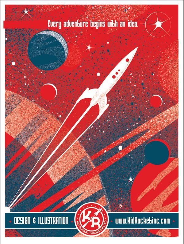 Kid Rocket Inc Promotion Kit by Jason Bays, via Behance