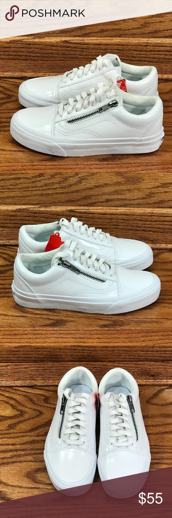 1636785baef4d Vans Old Skool ZIp DX Smooth Leather True White Vans Old Skool ZIp DX  Smooth Leather True White Shoes Size Men 3.5 Women 5 Brand new in box  Unisex Vans ...