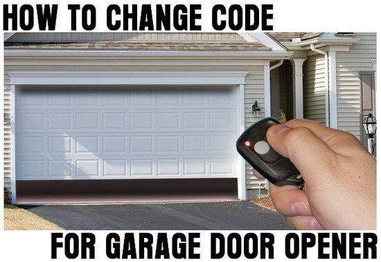 How To Change Reset The Code For Your Garage Door Opener Garage