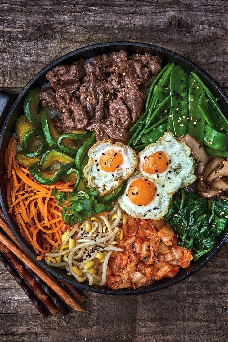 Bibimbap is a fantastic korean comfort food packed with rice a fantastic collection of korean recipes from a hearty bibimbap recipe to easy beef bulgogi learn how to make kimchi too with a fantastic and varied forumfinder Choice Image