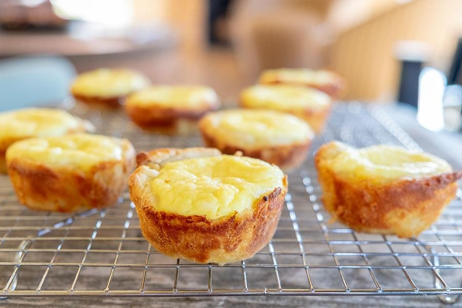 Glutenfree french pastry cheese cups think flaky