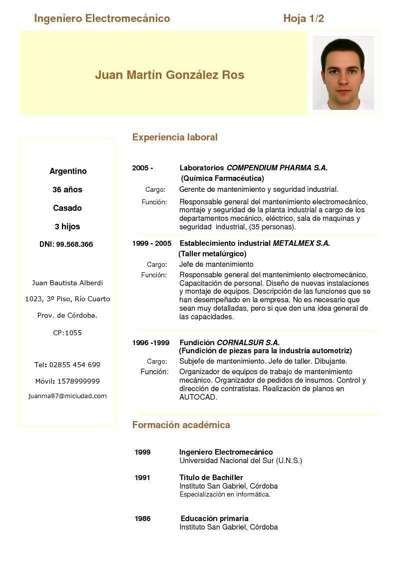Modelo De Curriculum Vitae Para Quimico Farmaceutico Modelo De Curriculum Vitae Modelos De Curriculum Vitae Curriculum Vitae Curriculum Vitae Ingeniero