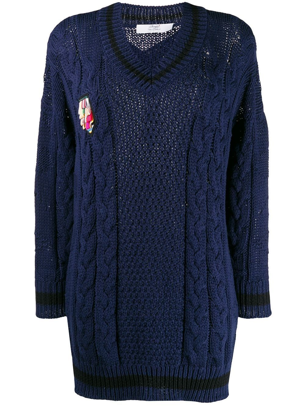 Mr & Mrs Italy chunky knit jumper - Blue