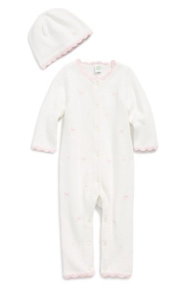 6926187c793d Little Me Knit Romper   Hat (Baby Girls) available at  Nordstrom ...