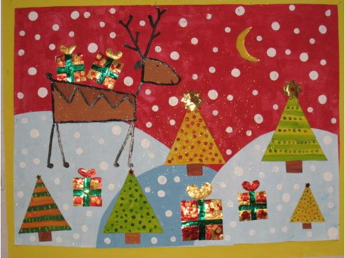 Fresque ms gs no l pinterest fresque no l et noel - Activite de noel maternelle ...
