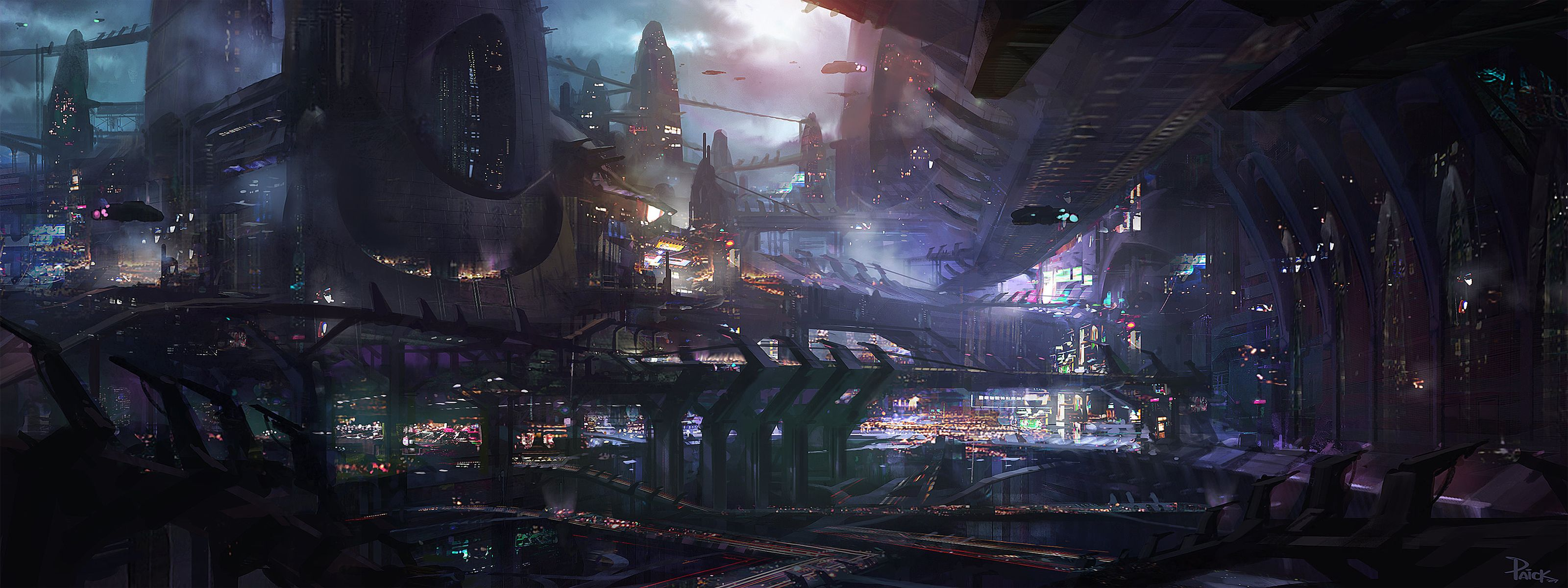 How To Set Different Wallpapers On Dual Monitors In Windows Futuristic City Sci Fi Wallpaper Concept Art World