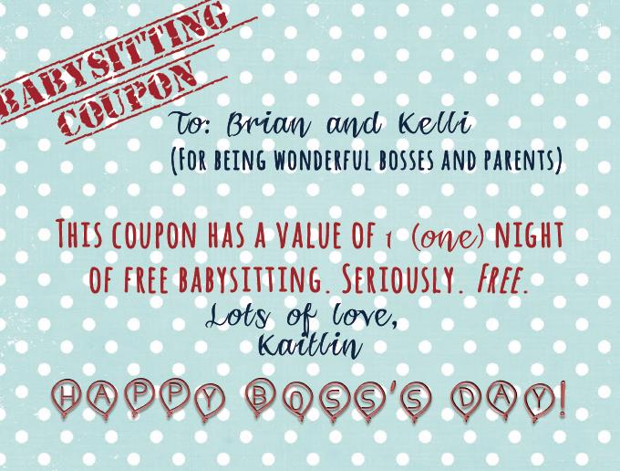 Babysitting Coupon For The Nanfam  Babysitting