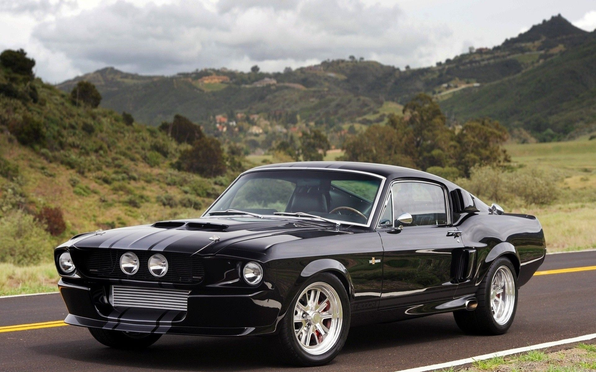 Landscapes black cars scenic vehicles ford mustang shelby gt500 1920x1200 wallpaper cars mustang cars ford mustang shelby gt500 ford mustang shelby