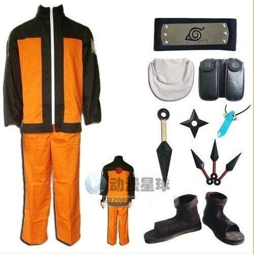 Naruto Jiraiya Cosplay Costume Full Set FREE P/&P