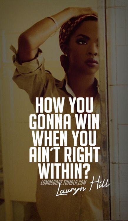 lauryn hill quotes tumblr Google Search Rap lyrics