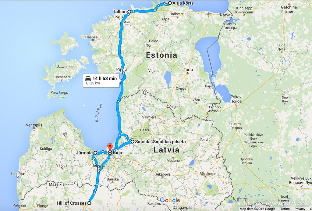 Map for road trip in Baltic countries Travel To Dos Pinterest