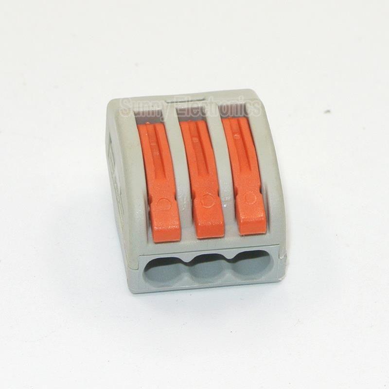 10 Pcs PCT-213 3 Pin Universal compact fil connecteur de câblage ...