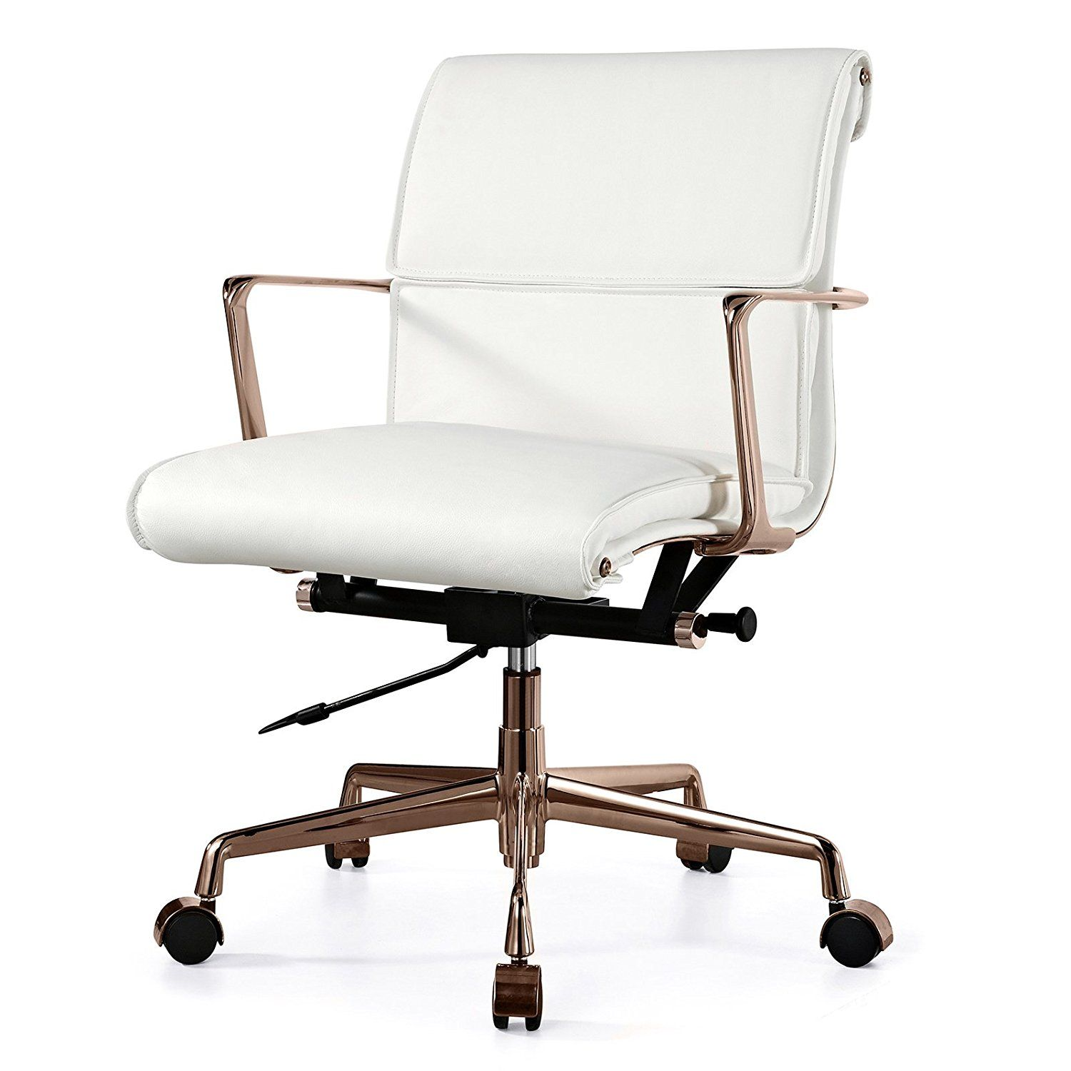 leather office chair amazon. amazon.com: meelano m347 italian leather office chair, rose gold/white: chair amazon