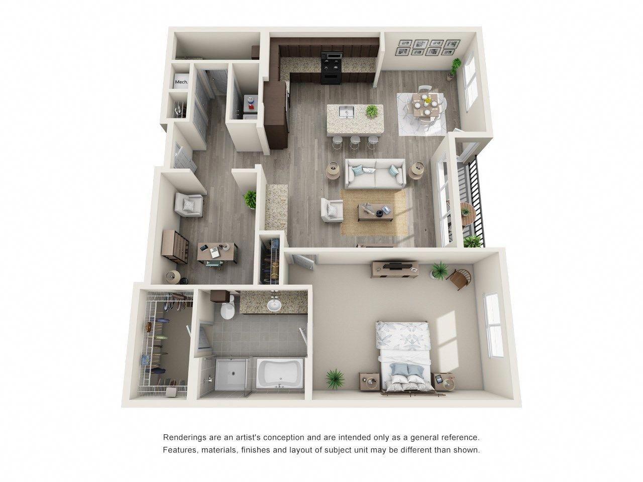 1 Bedroom W Studio 1129 Sf Homedecor101plus1 Sims House Plans House Plans Sims House