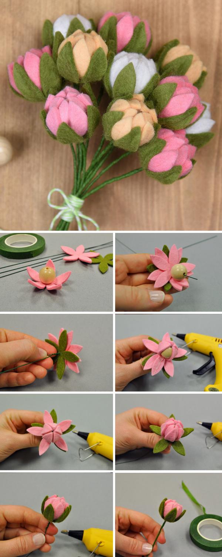 How To Make DIY Felt Flowers Give Youmr Home A Handmade Summer Treat