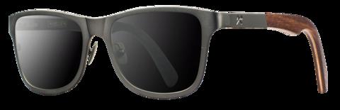 Canby / Titanium / Gunmetal & Walnut / Grey Wood Sunglasses