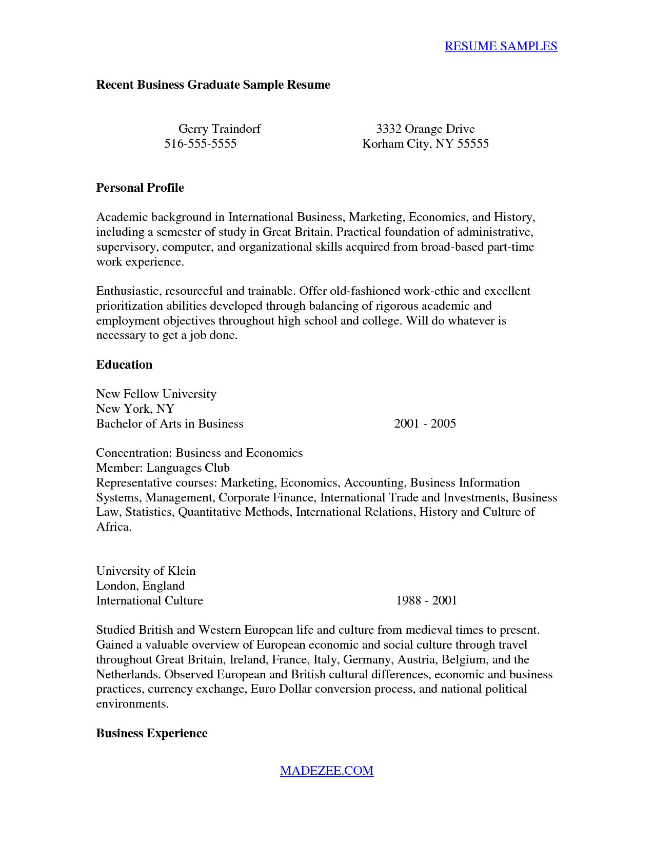 27+ Recent Graduate Cover Letter Job resume examples
