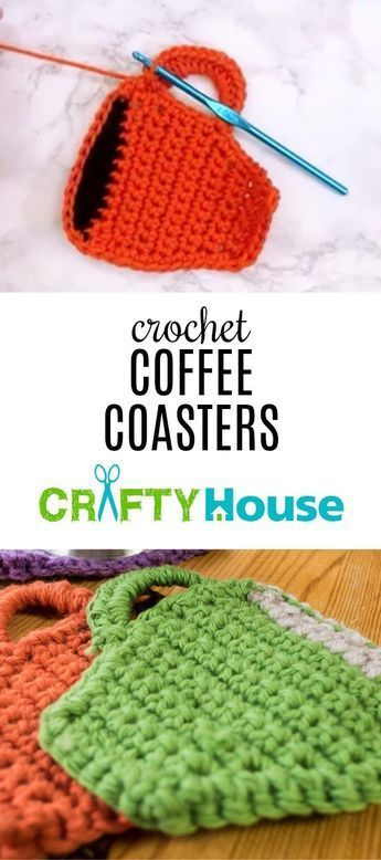 Scrap Yarn Project: Coffee Mug Coasters    Improve your skills by learning these…