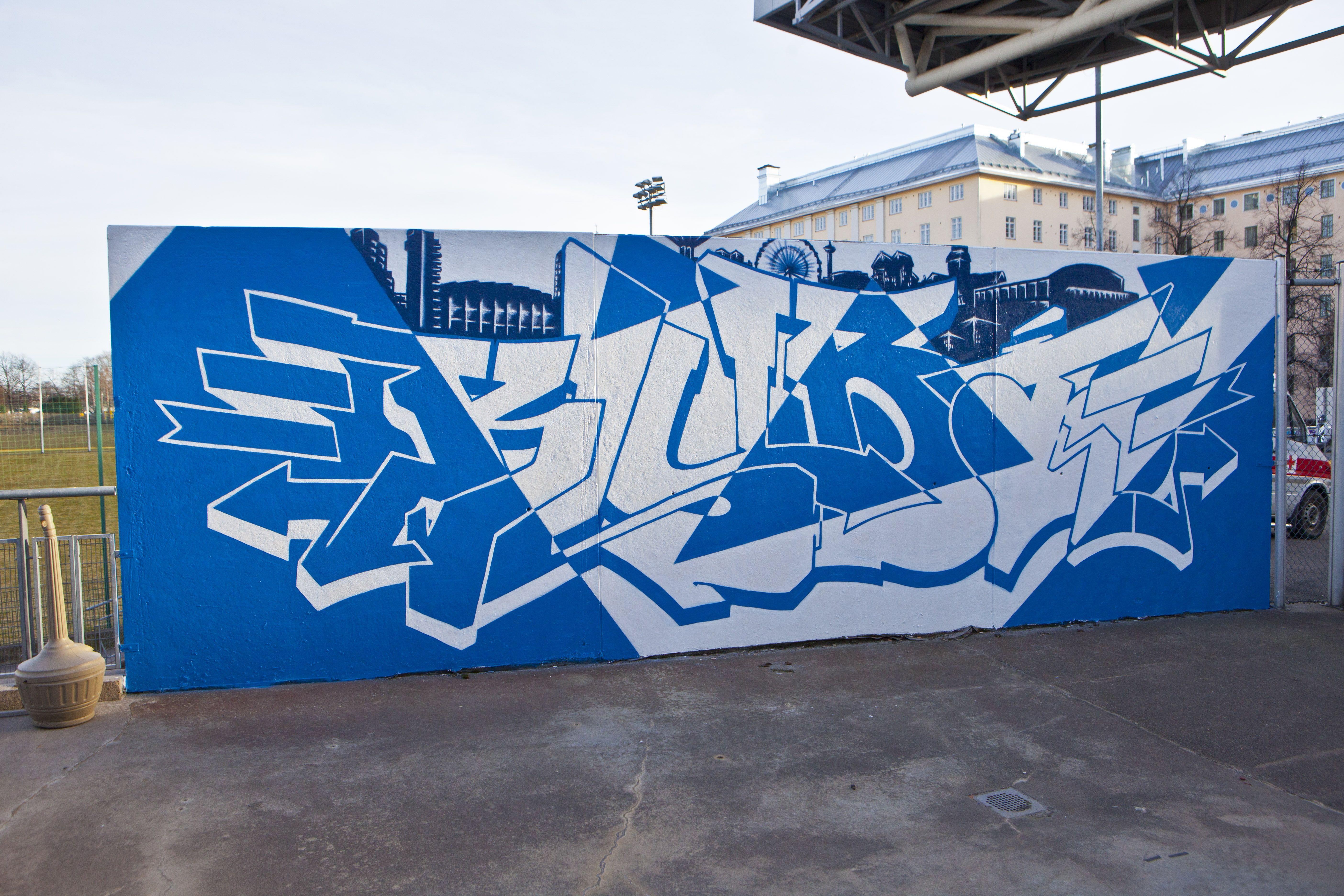 Hjk Helsinki Football Graffiti Hjk Helsinki Graffiti Art Football Team Murals Finland