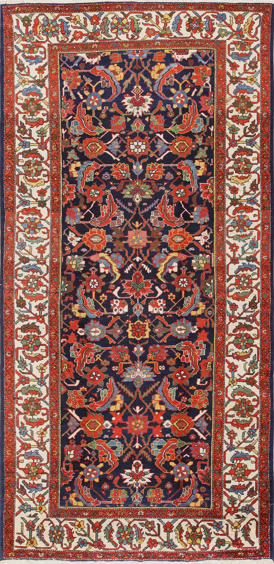 Antique Gallery Size Blue Persian Malayer Rug 48880