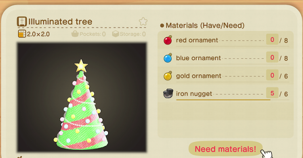 This Page Lists The Complete Festive Furniture Set And Items You Can Get During The Season Of Winter In Animal Cross Red Ornaments Animal Crossing Festival Diy