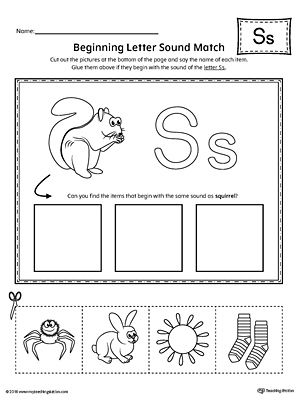 Early Childhood Alphabet Worksheets Beginning Sounds Worksheets Letter G Kindergarten Letters S sound worksheet