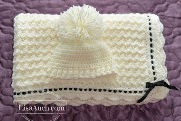 Crochet Baby Blanket Crochet Baby Hat Pattern (Crochet Hat and ...
