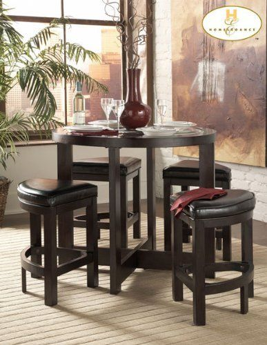 Homelegance Redell 5 PC Counter Height Dinette Set in Dark Redwood on wildon home dining sets, hokku designs dining sets, sunny designs dining sets, woodbridge home designs bookcase, tommy bahama home dining sets,