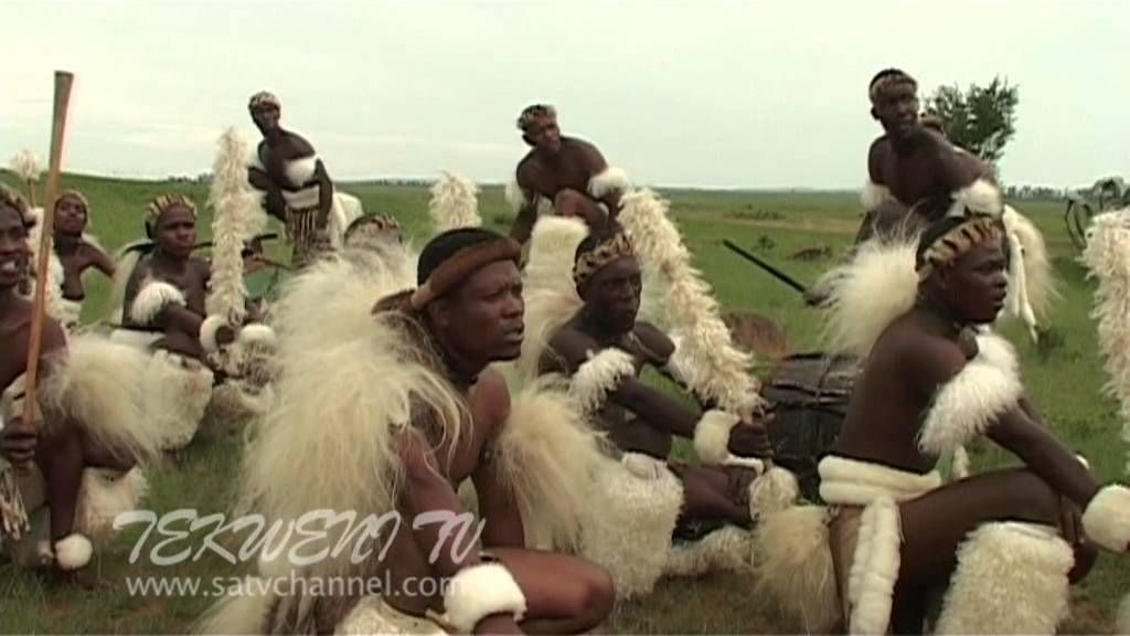 Zulu Maidens Deliver Reed Sticks To The King Zulu Reed Dance At