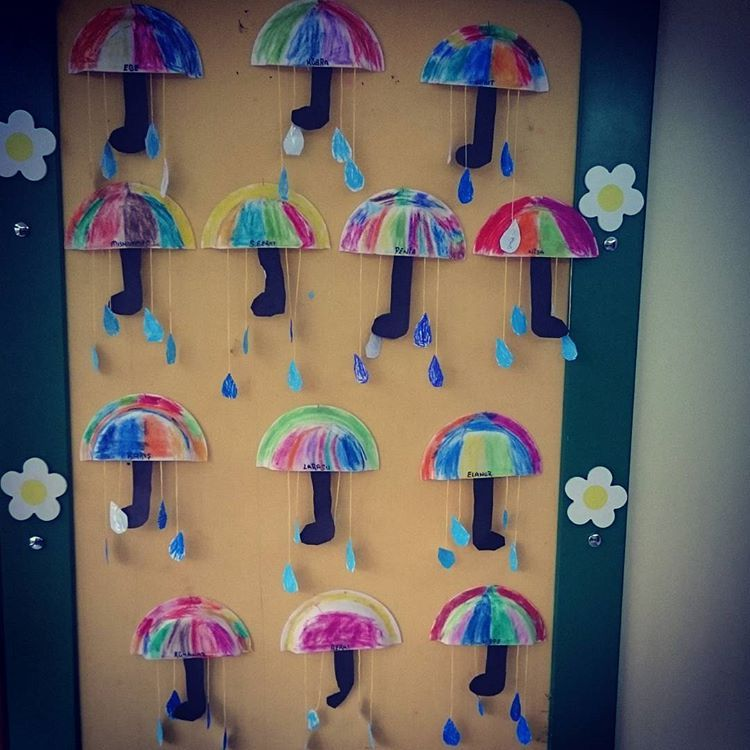 Awesome Umbrella Craft Ideas For Kids Part - 10: Fall Craft Idea For Kids | Crafts And Worksheets For Preschool,Toddler And  Kindergarten