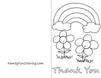 photo regarding Printable Thank You Cards to Color named Printable Thank On your own Playing cards in direction of Coloration - FamilyFunColoring