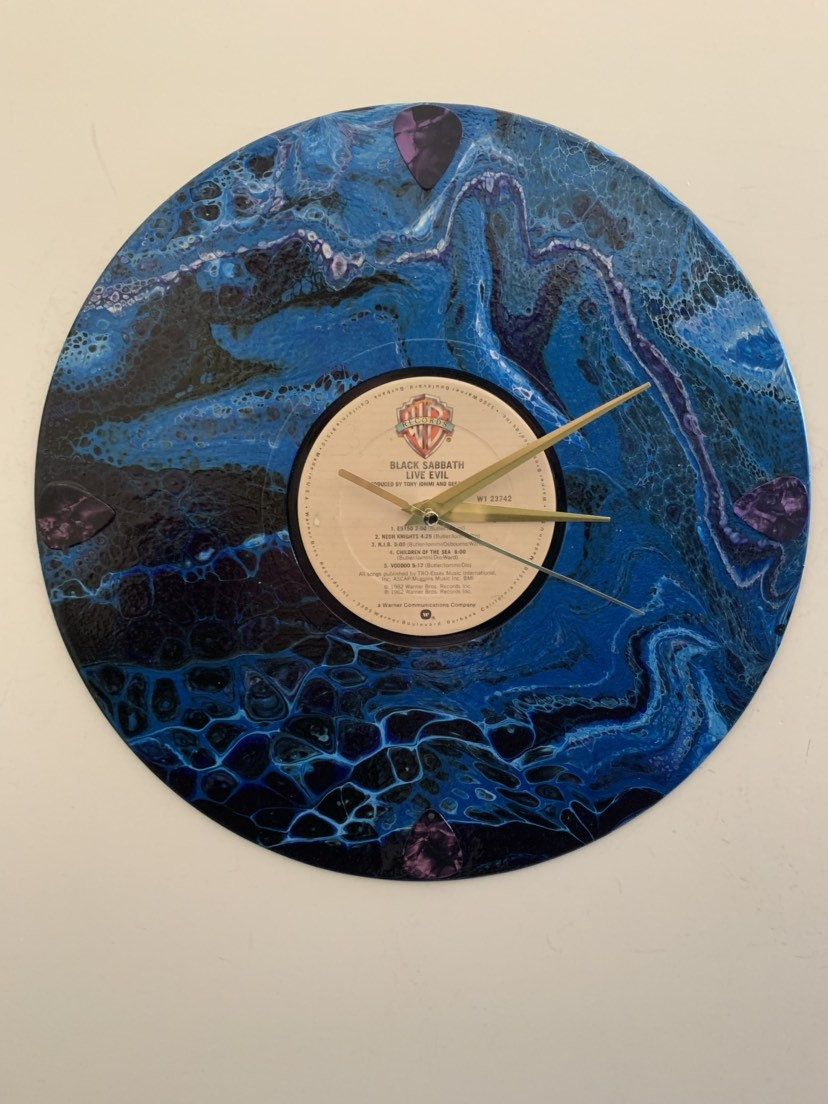 Black Sabbath, Record album, wall clocks, wall decor, rock